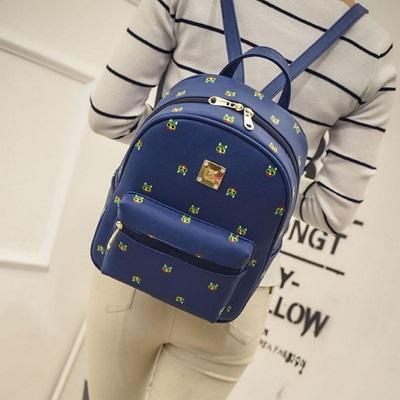 後背包印花雙肩包-可愛小動物圖案學生流行女包包3色73fd68【獨家進口】【米蘭精品】