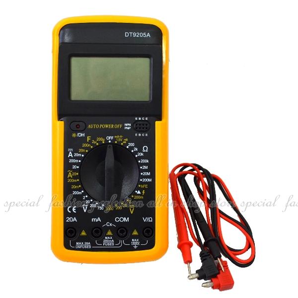 數位三用電錶DT9205A(附紅黑測量線)數位萬用表 自動關機 蜂鳴器【DB490】◎123便利屋◎
