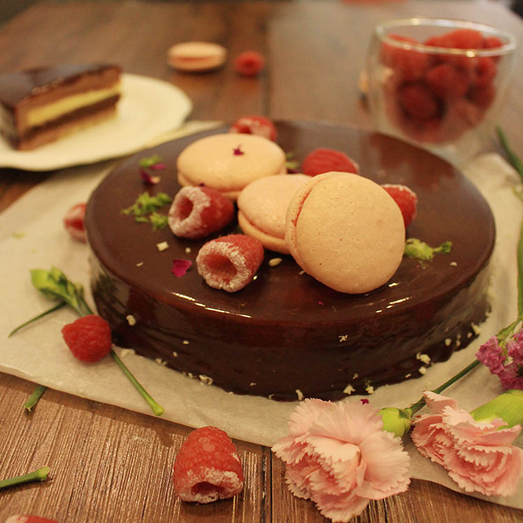 【哈朗法式甜點】免運-覆盆子巧克力蛋糕