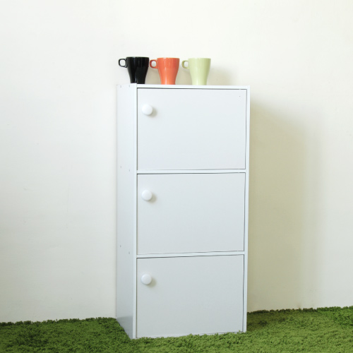 《Hopma》時尚白三門收納櫃