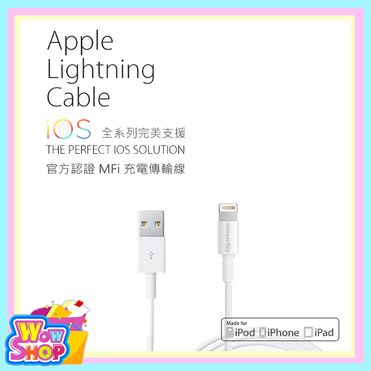 Gigastone Apple Lightning 充電傳輸線