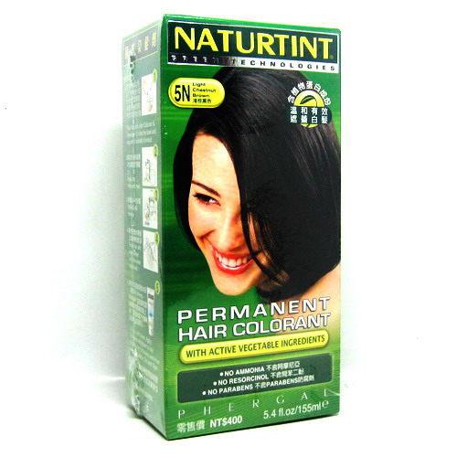 上嵐赫本天然染髮劑---5N淺棕黑色