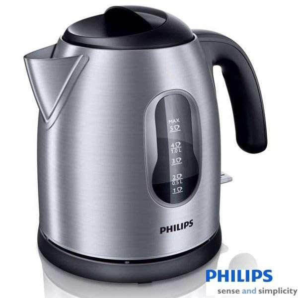 飛利浦 Philips 1.25公升 無線不鏽鋼電動煮水壺 HD-4622