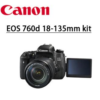 ★分期零利率★ 送靜電抗刮保護貼 +清潔好禮套組  CANON  EOS  760d 18-135mm kit 旅遊鏡組  單鏡組  數位單眼相機  彩虹公司貨