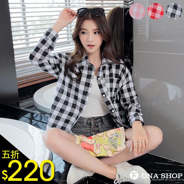 F-DNA★棋盤方格紋長袖襯衫(3色-M-XL)【ESQ1655】
