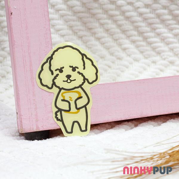 [反光貼紙] 貴賓犬 吐司款 6.3*4.3 cm
