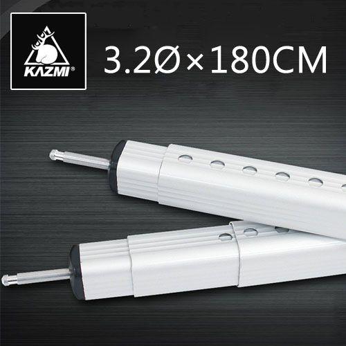 KAZMI鋁合金彈扣式方形伸縮營柱118~180cm 天幕桿/前庭柱桿K3T3T311SR[阿爾卑斯戶外/露營] 土城
