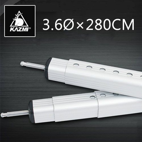 KAZMI鋁合金彈扣式方形伸縮營柱135~280cm天幕桿/前庭柱桿 K3T3T312SR [阿爾卑斯戶外/露營] 土城