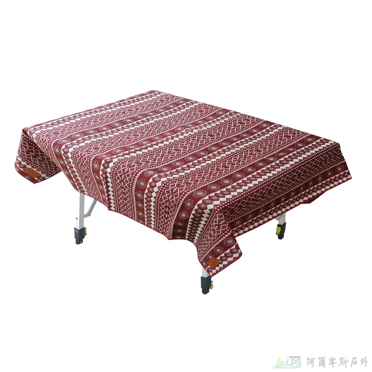 OutdoorBase漾彩防水桌布160x140cm(紅色百凌) 露營/海灘墊/戶外野餐/蛋捲桌桌布 26046 [阿爾卑斯戶外/露營] 土城