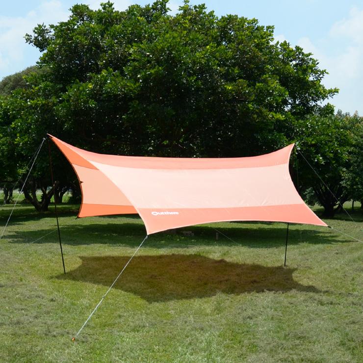 好野 Outthere蝶型天幕帳(小430 x 350cm)-橘色-整套含柱繩釘 AW00101 [阿爾卑斯戶外/露營] 土城