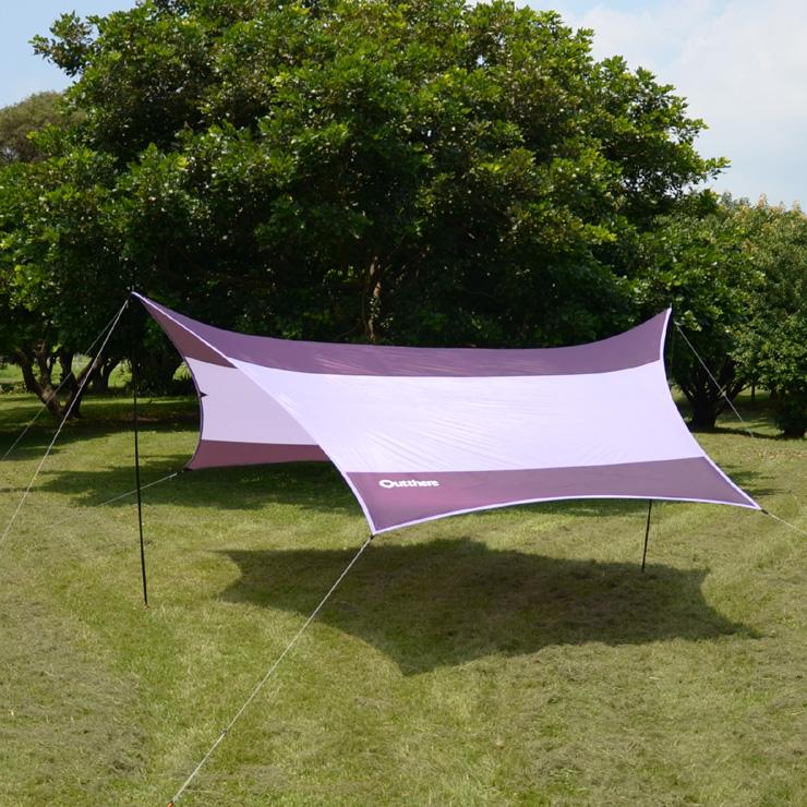 好野 Outthere蝶型天幕帳(大590 x 480cm )-紫色-整套含柱繩釘AW00209 [阿爾卑斯戶外/露營] 土城