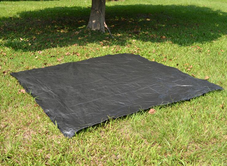 好野 Outthere方型240x240cm防潮地席-黑色 AY00108 [阿爾卑斯戶外/露營] 土城