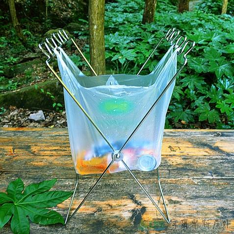 [阿爾卑斯戶外/露營] 土城 TNR 戶外折疊輕便 垃圾袋架 DE0049