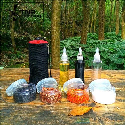 [阿爾卑斯戶外/露營] 土城 野炊料理 調味罐4件組/ 醬油瓶 醬汁調味瓶3件組