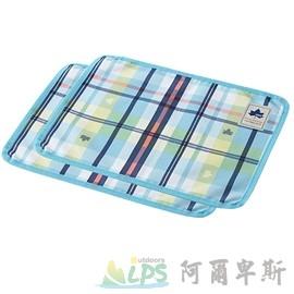 [阿爾卑斯戶外/露營] 土城 LOGOS 愛麗絲格紋餐墊2入40X30cm(藍) 73189006