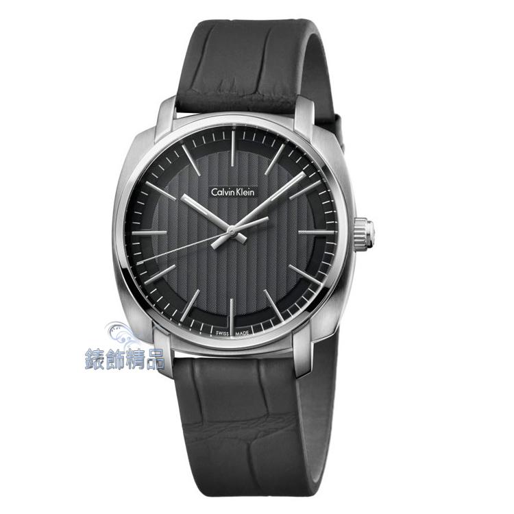 【錶飾精品】CK手錶 Highline平行系列 金宇彬代言 銀框黑面黑皮帶男錶 K5M311C1 全新原廠正品 生日情人禮物