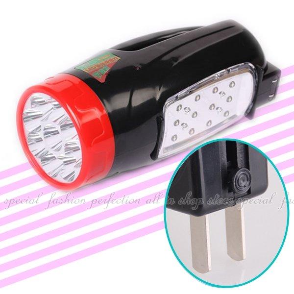 LED手提探照燈2合1 充電式LED燈KY7718 充電式探照燈【DC492】◎123便利屋◎