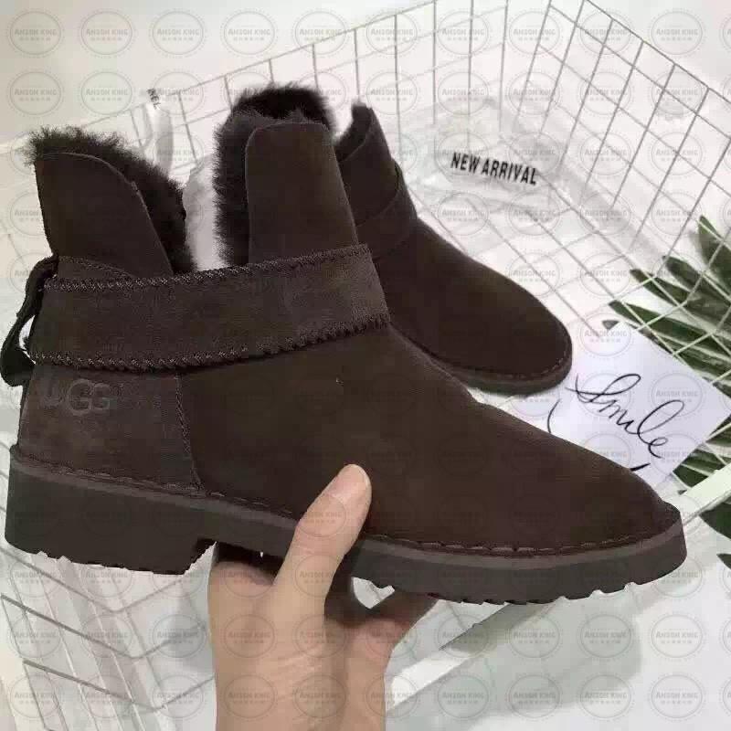 OUTLET正品代購 澳洲 UGG 羊皮毛一體馬汀靴 中長靴 保暖 真皮羊皮毛 雪靴 短靴 深褐色