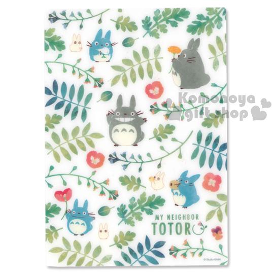 〔小禮堂〕宮崎駿Totoro龍貓 日製墊板《綠白.花草.滿版》