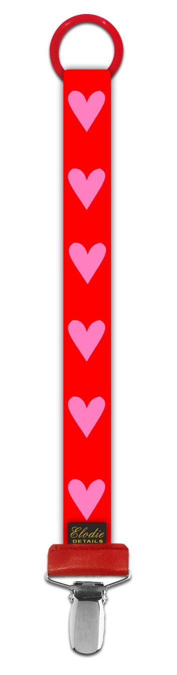 ★衛立兒生活館★瑞典 Elodie Details 艾洛迪  時尚安撫奶嘴鍊夾-可愛甜心