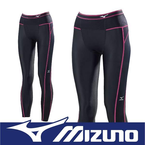 MIZUNO 美津濃 BIOGEAR BG3000R 壓縮褲 壓力褲 支撐保護 吸汗快乾 彈性佳 抗紫外線 A76BP-37094黑x粉紅 (女)