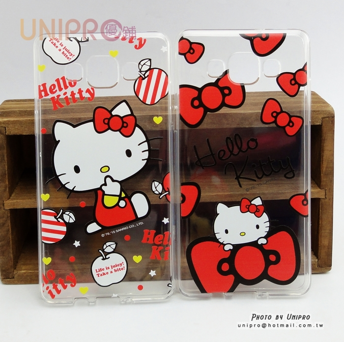 【UNIPRO】三星 A5 A500 Hello Kitty 凱蒂貓 正版 透明 軟殼 TPU 手機殼 保護套 KT