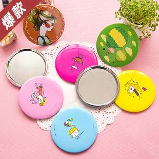 爆款韓國人氣卡通人偶小镜随身镜化妆镜子9元