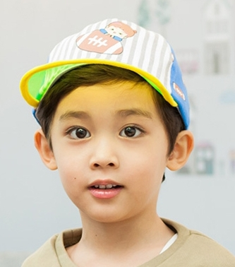 Lemonkid◆時尚運動風條紋印花防曬遮陽好視線透明帽檐兒童休閒棒球帽-黃色帽檐