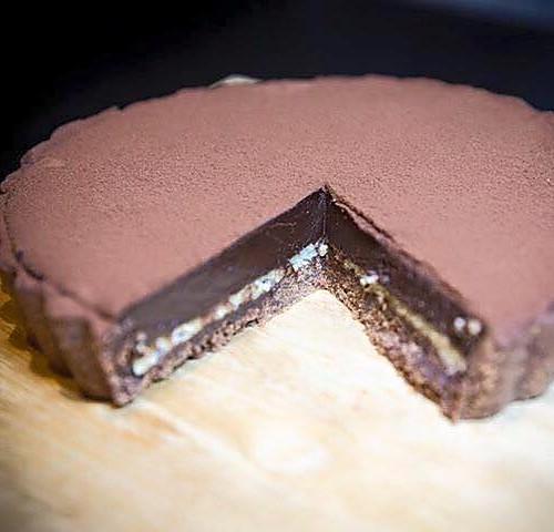 法式生巧克力塔 (6吋) Nana chocolate Tart【吳社長的美味食堂】超濃比利時73%巧克力與總統牌鮮奶油
