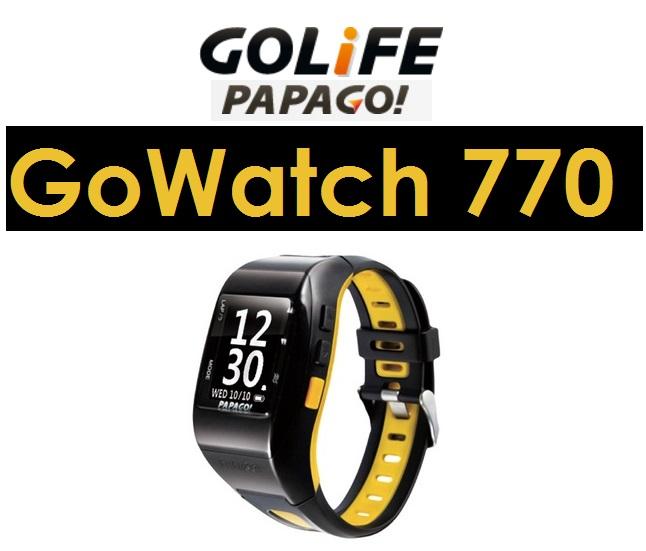 【原廠盒裝】PaPaGo GOLIFE GoWatch 770 專業運動錶 多功能運動手錶 防水 台灣設計製造