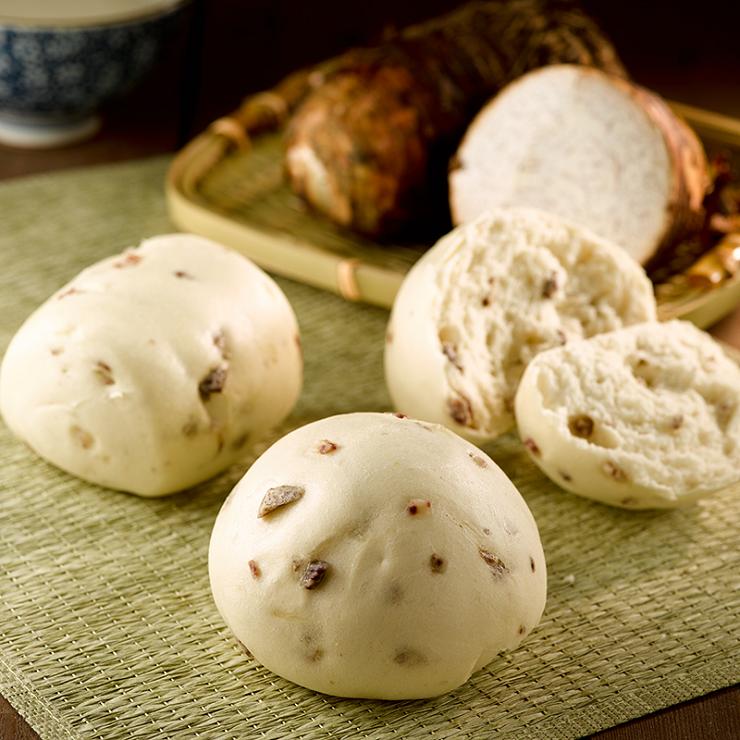 【鮮奶芋頭饅頭】1包5入(每顆約130克+/-5克) ▶玉食堂手工養生包子饅頭