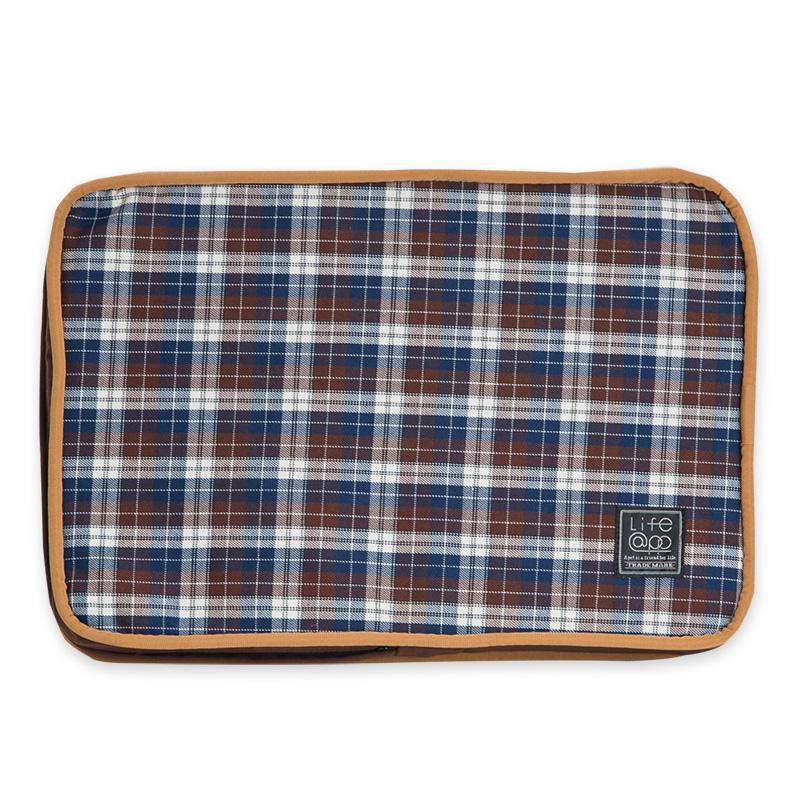 《Lifeapp》睡墊替換布套XS_W45xD30xH5cm (棕格紋) 不含睡墊