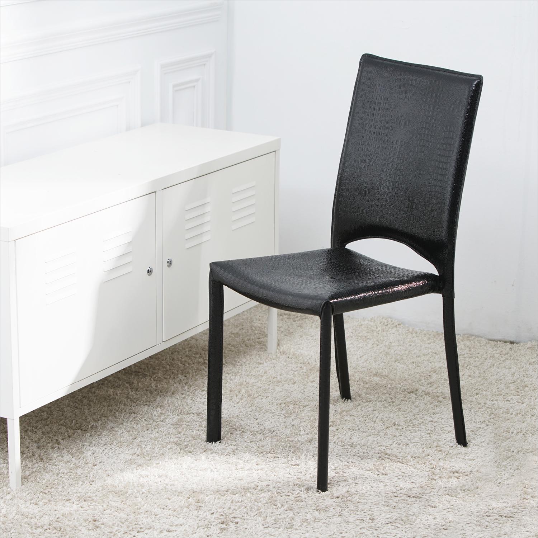 【名流精品寢飾館】仿鱷魚皮造型時尚椅 餐桌椅 書桌椅 會議辦公椅 賣場展示皮面椅 高品質台灣製