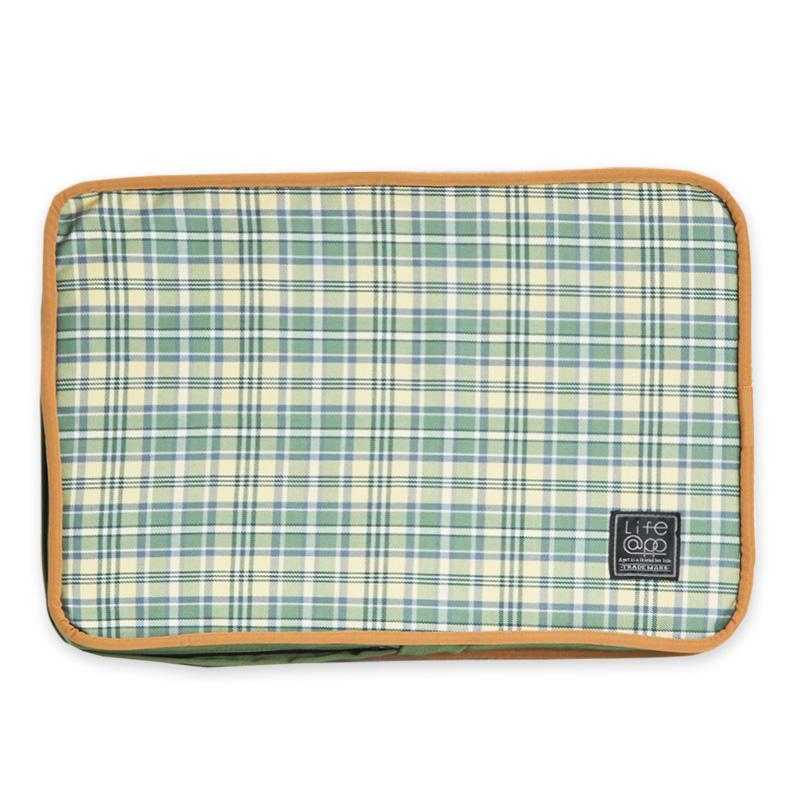 《Lifeapp》睡墊替換布套XS_W45xD30xH5cm (綠格紋) 不含睡墊