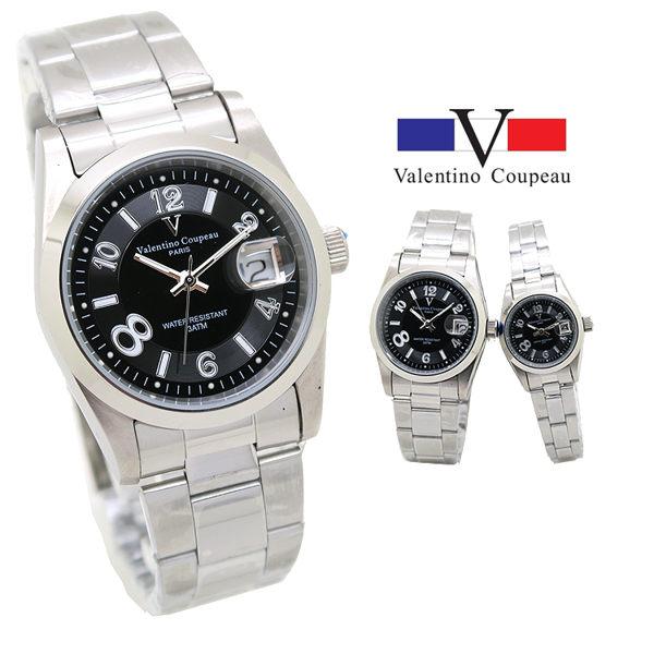 《好時光》Valentino 范倫鐵諾 大8數字 經典風格(日期窗)時尚男錶/女錶-單支 深藍 黑
