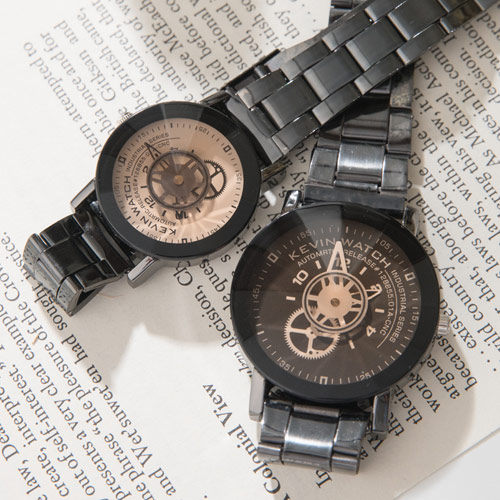 《好時光》齒輪工業風 獨特轉盤指針 立體切割鏡面 時尚設計造形錶/男錶/女錶/對錶-單支價格