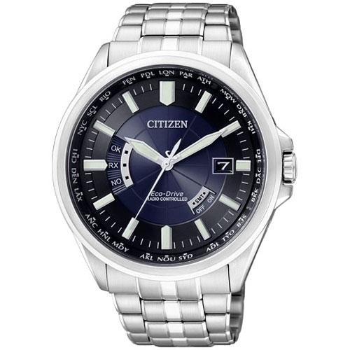 CITIZEN星辰CB0011-51L經典電波紳士光動能電波腕錶/藍面44mm