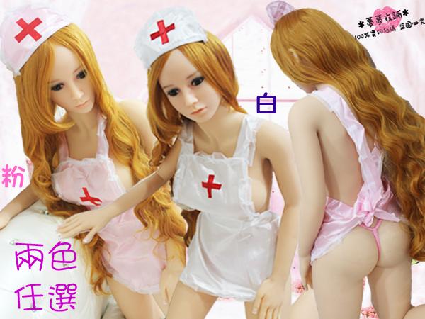 Oo粉紅泡泡oO(A188004)100%實品拍攝 兩色任選 情趣性感護士圍裙 遊戲護士制服 附贈護士頭飾與丁字褲