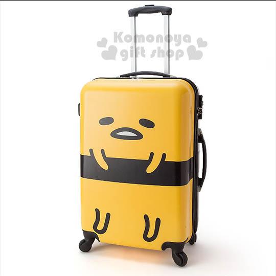 〔小禮堂〕蛋黃哥 硬殼拉桿行李箱《大.24吋.黃.站姿》旅行系列
