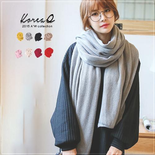 圍巾 韓系超柔軟仿羊毛絨針織圍巾(預+現) Korea Q【14100053】