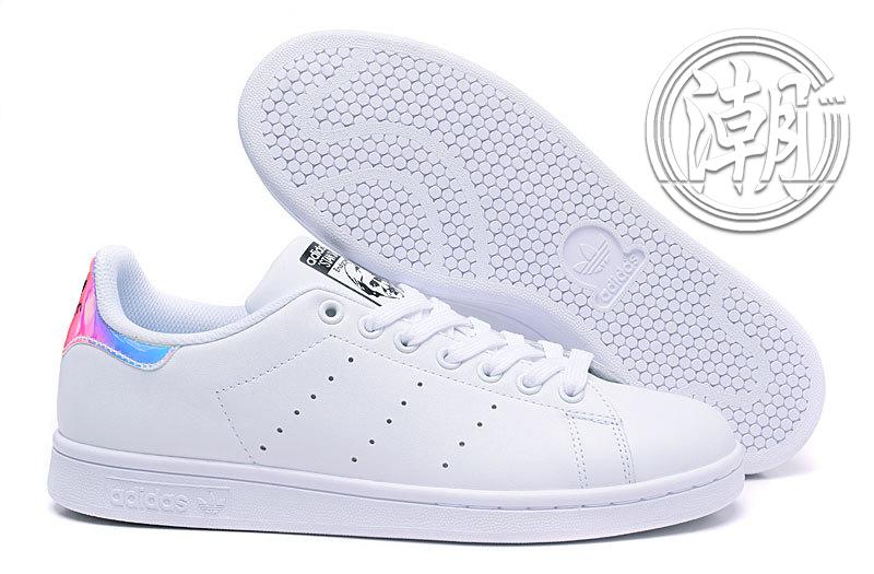 歲末出清Adidas Stan Smith 街頭經典 愛迪達 史密斯 炫彩 雷射 復古百搭 男女 情侶鞋 休閒鞋【T124】