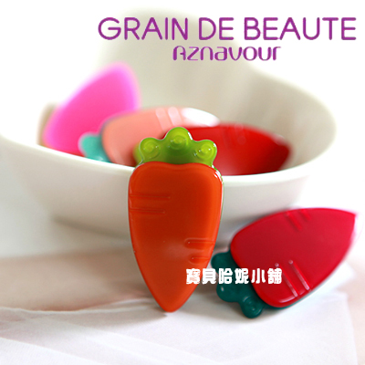 BHJ218-法國品牌Grain de Beaute 可愛胡蘿蔔髮夾 瀏海夾 鴨嘴夾 【韓國製】Aznavour