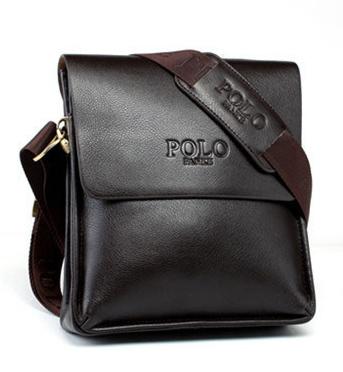 POLO FANKE 真皮品牌經典男包系列直式-咖啡
