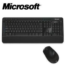 微軟 Microsoft 無線鍵盤滑鼠組3050 進階加密標準 (AES) 128 位元加密 內建手腕支撐墊