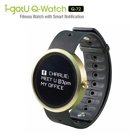 i-gotU Q-Watch Q72 智慧健身手錶 腕錶 藍芽4.0/紫外線感測/LED螢幕/防水IPX7 公司貨
