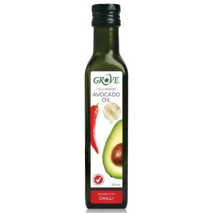 健康族-GROVE 冷壓初榨酪梨油 250ml (辣椒風味)