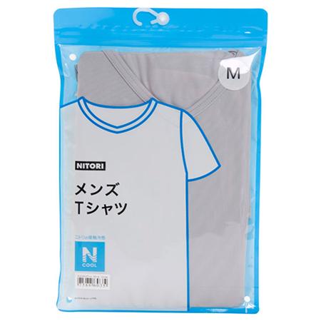 接觸涼感 男士V領T恤 N COOL GY/M