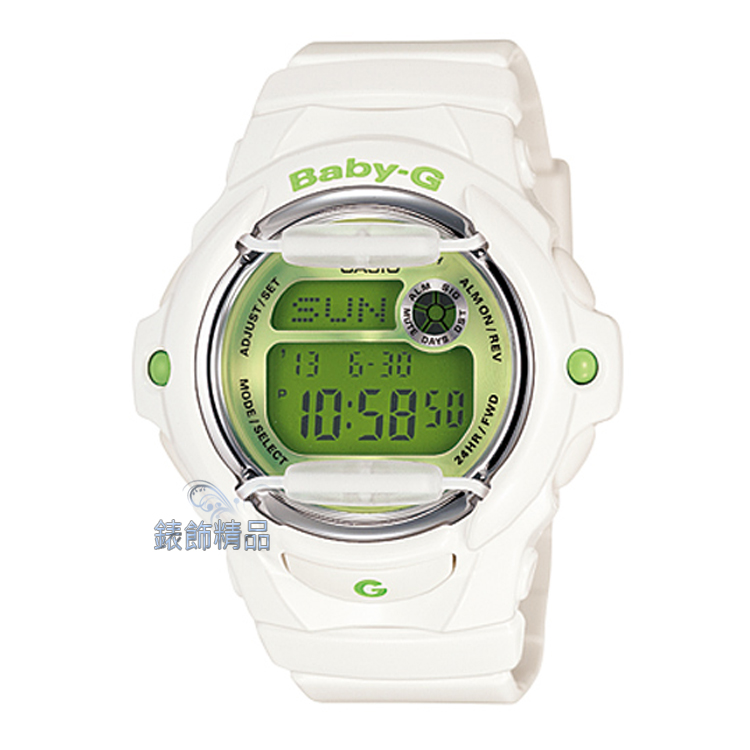 【錶飾精品】現貨CASIO卡西歐Baby-G防水200米BG-169R-7CDR 亮白綠 BG-169R-7C全新原廠正品 學生 開學 畢業季