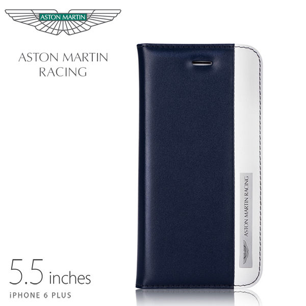 【愛瘋潮】英國原廠授權 Aston Martin Racing iPhone 6 / 6S Plus 5.5吋 真皮側掀皮套 永恆系列 手機殼