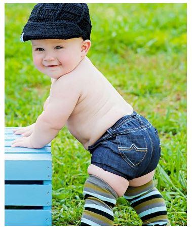 ★啦啦看世界★ Rufflebutts/ Ruggedbutts 牛仔屁屁褲 尿布褲 小短褲 嬰兒彌月禮 出生